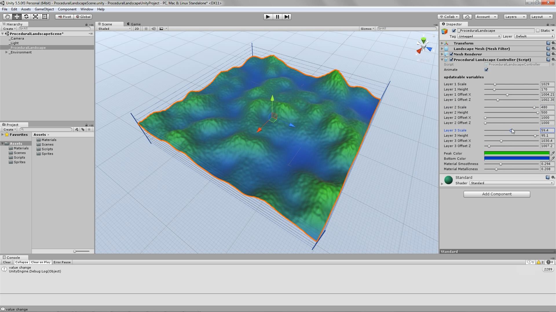 Procedural Landscape, made in Unity3D – www konsfik com
