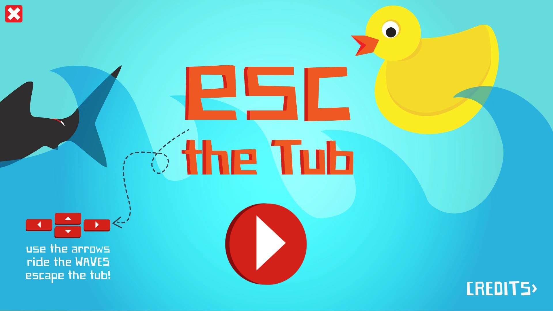 """Esc The Tub"": title-screen"