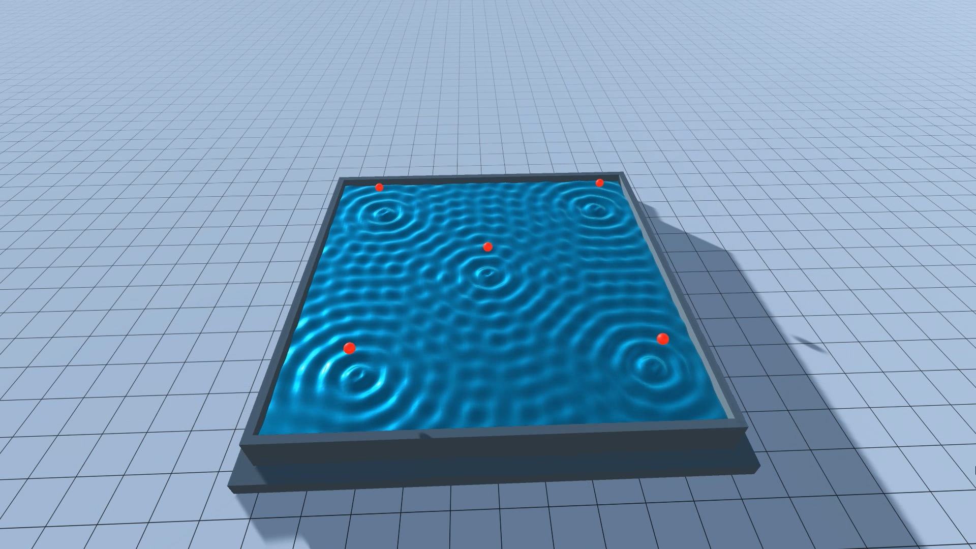 Procedural Water Surface, made in Unity3D – www konsfik com