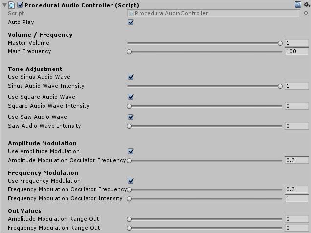 Procedural Audio, made in Unity3D – www konsfik com