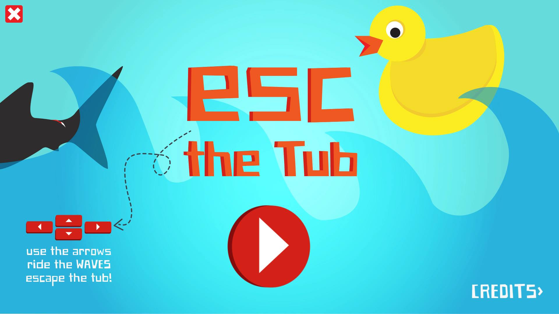 """Esc The Tub"": title-screen"
